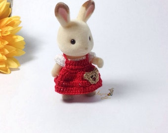 Calico Critters/ Sylvanian Families Crochet Clothes/Outfit for Sister Made to Order #4003