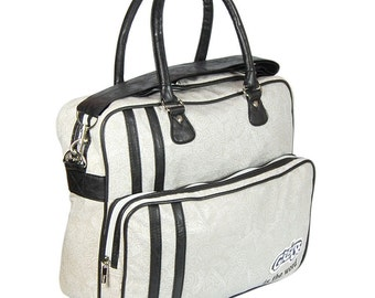 GREASE Is The WORD Holdall Shoulder Overnight Bag RETRO