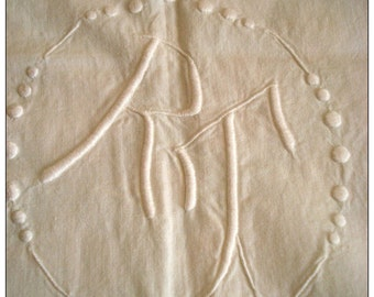 OLD FRENCH EMBROIDERED Sheet