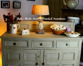 SOLD OUT Richly Rustic Antique Pine Low Kitchen Dresser  Sideboard