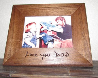 Your Handwriting Engraved, 5x7 Frame, Personalized Frame, Mother's Day Gift, Father's Day Gift, Custom Frame, Memorial Gift