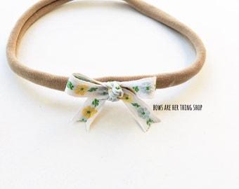 AYLA floral ribbon bow