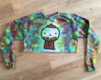 Limited edition gumball cropped tie dye sweatshirt