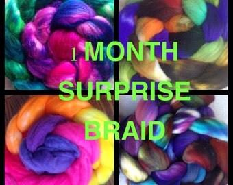 Fiber of the month, surprise fiber pack, monthly fiber club, 1 month, 4oz+