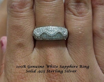 Genuine White Sapphire Ring