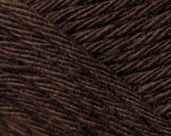 Cotton yarn dark brown colour creative cotton aran crochet yarn code 58  Rico Design 50g 85m (92 yards) for needle size 4-5 EU (US 6-8)