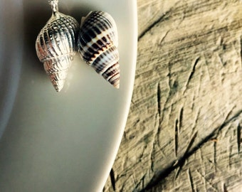 Unique handmade sterling silver shell necklace