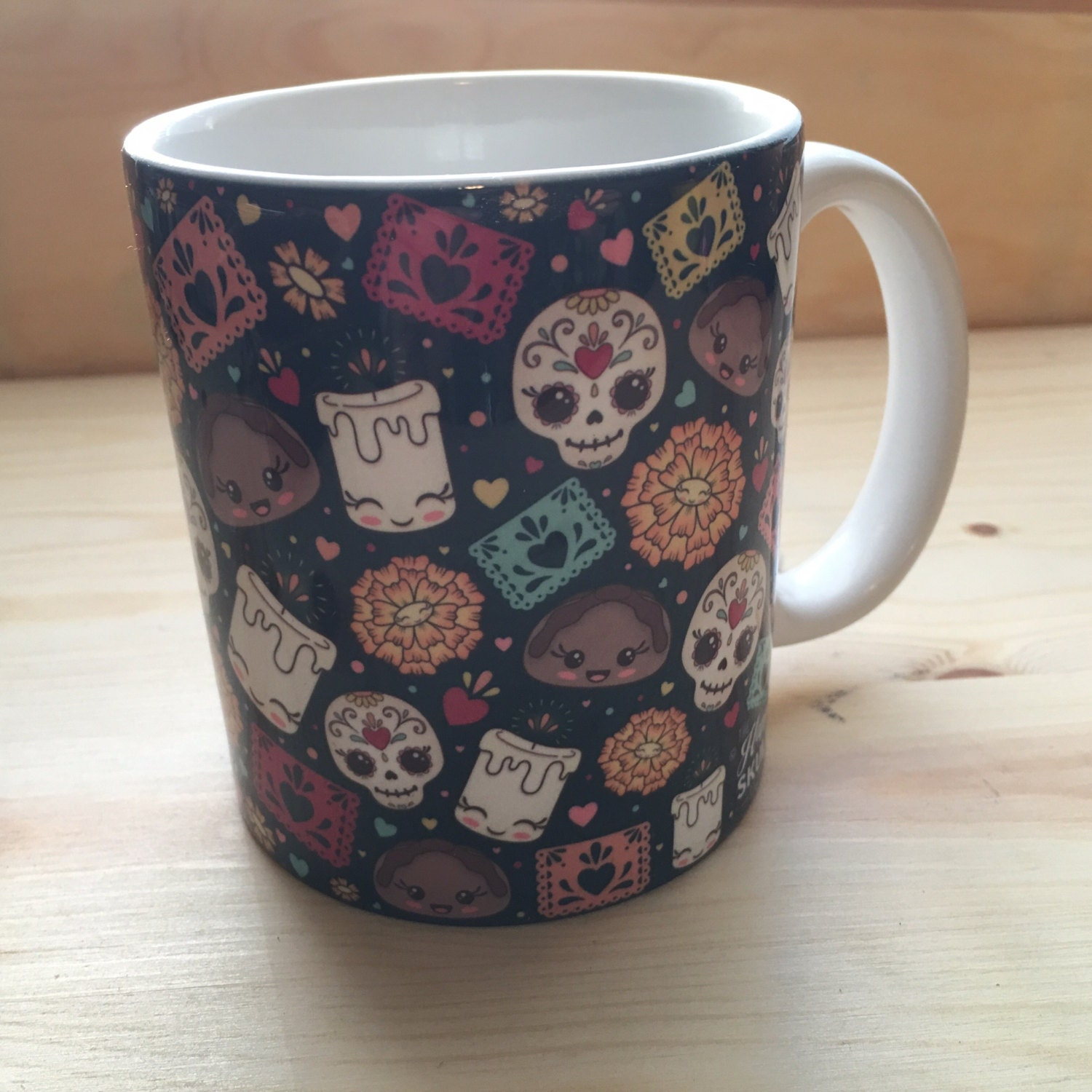 Day of the dead mug for Dulce coffee studio