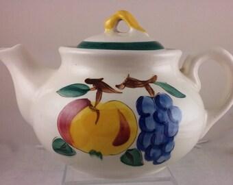 Vintage Fruit Pattern Stangl Pottery Teapot