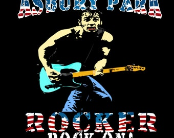 Bruce Springsteen T-Shirt Homage - Charlie Tokyo Original Design T-Shirt Mens 100% Unofficial