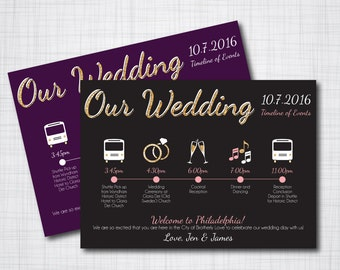 Custom Wedding Timeline - DIY printable