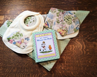 Swaddle Set,Baby Receiving Blanket Set, Baby Blanket Set, Baby Gift Set, Baby Book Set, Baby Shower Gift, Baby Gift, Receiving Blanket Set