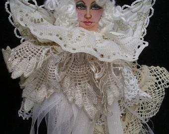 Cloth Doll Christmas Angel/Cloth angel doll/