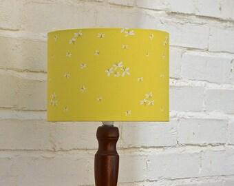 Lamp shade, yellow lampshade, yellow decor, home decor, lighting, lamp, lampshades, handmade lighting, table lamp, floor lamp, drum lamps
