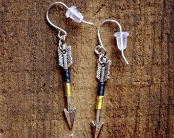 Arrow Earrings, Arrow Jewelry, Archery Jewelry, Archery Earrings, Silver Arrow - Lakeside Arrow Earrings (Silver)