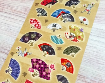 Japanese Fan Stickers - Type B