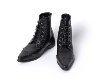 SD_Black Wingtip Boots