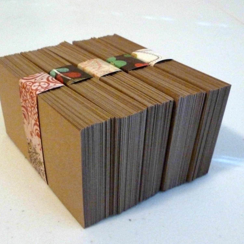 blank business cards kraft cards kraft paper cards 100 biz cards