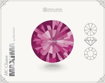 6 pc.+ SS39 (8mm) Preciosa MC Chaton MAXIMA - Fuchsia Color