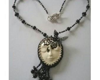 Monochrome Goddess Necklace
