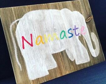 namaste elephant painting