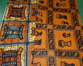 2 Fat Quarters - African Wax Print