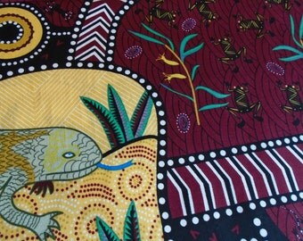 Australian Fabric, Lizard, by the Half Yard