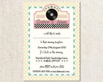 DIY Printable Retro Diner Invitation