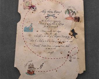 Printed Invitation | Ahoy Matey