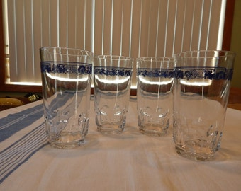 Old Town Blue Water Glasses - Set of 4