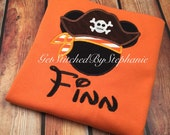 Mickey Pirate or Minnie Pirate Shirt Personalized