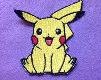 Pikachu iron on patch