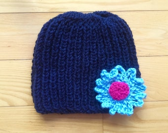Girl hat with fun flower