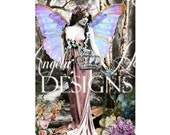 Blue Wing Fairy 2 Sheet Digi Photo Set