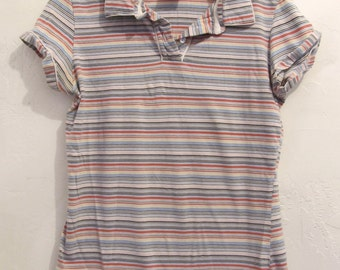 30% Off SaLE@@A Women's,Cute Vintage RETRO Short Sleeve STRIPED Polo By AXP.S