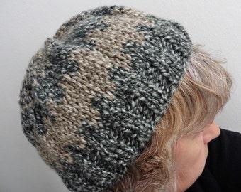 Hat, made handmade, warm, dark gray, Color you see, soft, Original gift, unique piece,