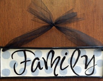 Family Plaque, Pottery Wall Plaque, Wall Tile, Ceramic Plaque