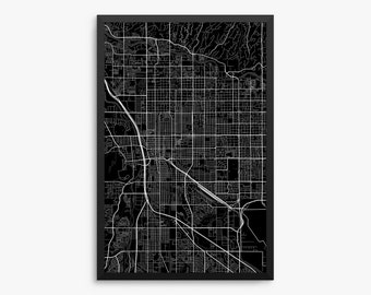 tucson city street map tucson arizona usa modern art print tucson office decor - Home Decor Tucson