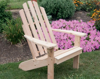 Cedar Kennebunkport Adirondack Chair - Unfinished or Stained - Amish Made in USA - Model# 661C - FREE SHIPPING