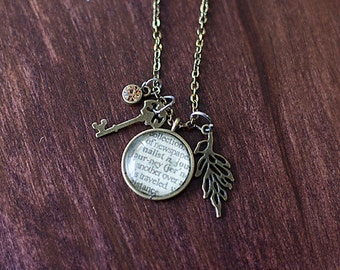 Journey Dictionary Pendant Necklace