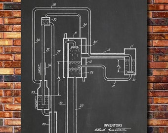 Refrigeration Albert Einstein Patent Print Art 1930
