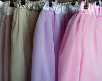Add some layers of tulle to your skirt