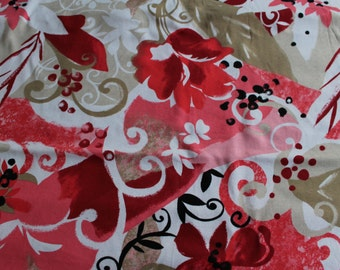 Floral Rib Knit