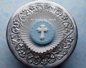 Baptism, Christening, First Communion - 24 - Fresh Chocolate Covered Oreos - 2 Dozen ; Christening Favors, Baptism Cookies for Candy Table