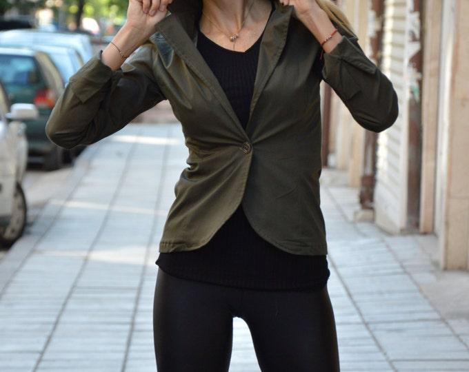 Woman New Military Blazer, Extravagant Jacket, Asymmetrical Buttoned Blazer, Elegant Jacket, Summer Coat by SSDfashion
