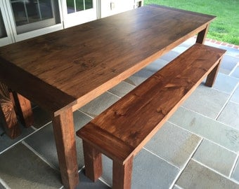Custom Early American Farm Table - Up to 9' Length!!!