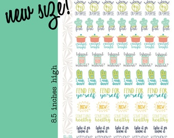 Meal Planner Stickers | Meal Planning Stickers (#031)