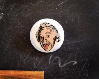 Wearable Art Brooch: Albert Einstein