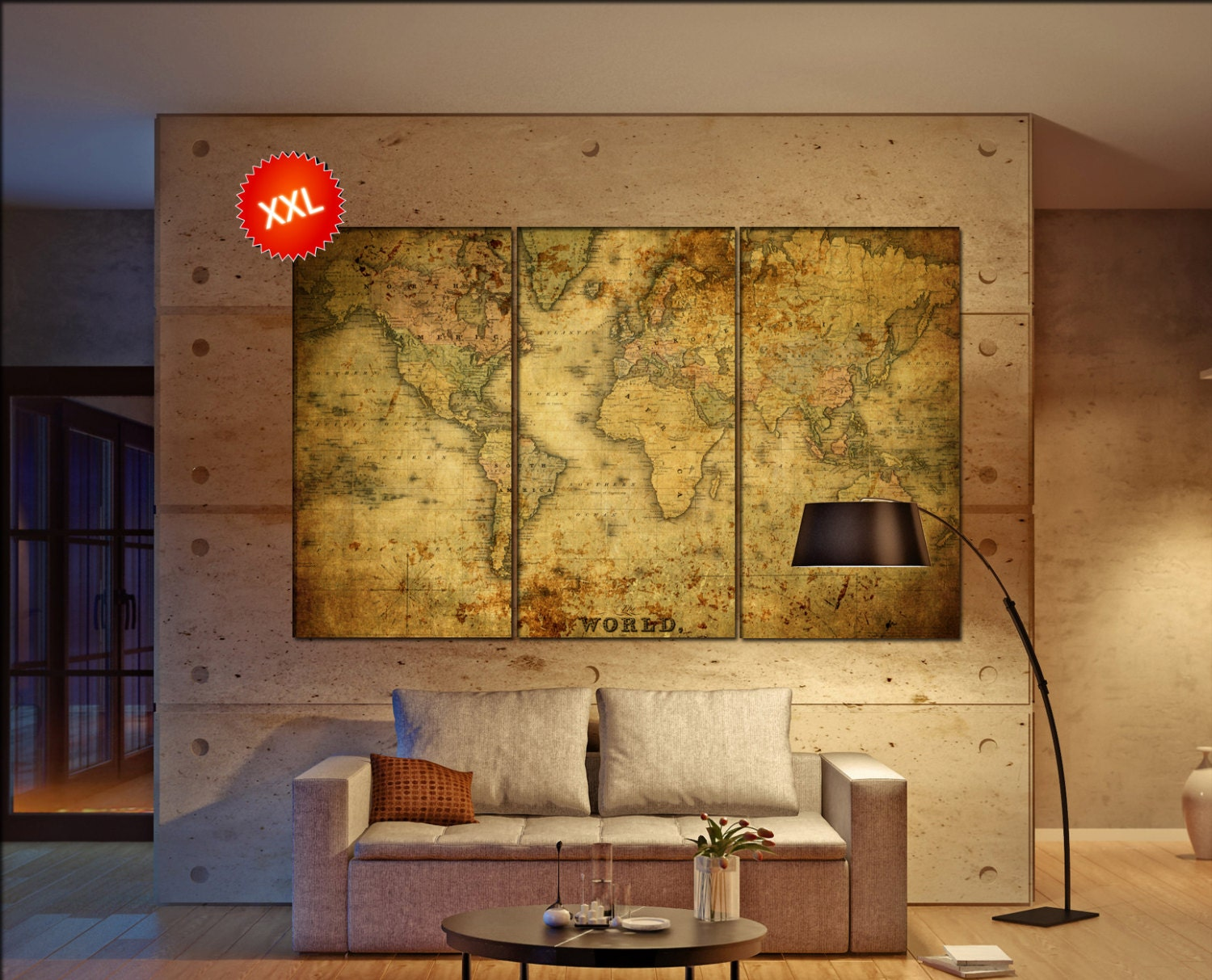 Old World Map Wall Art - Elitflat