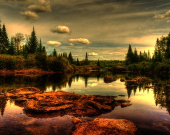 Landscape Photography, Adirondack Mountains, Scenery Print, Fine Art Decor, Adirondack Photo, Reflections Print, Adirondack Peaks, New York